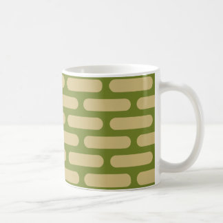 70's Mod Avocado Green and Harvest Gold Coffee Mug