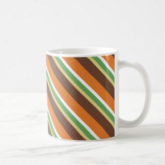 70's Mod Color Theme Striped Coffee Mug