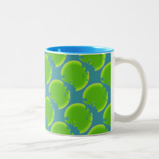 70's Mod Style Two-Tone Coffee Mug