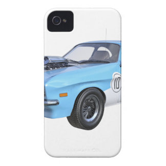70's Muscle Car in Blue and White iPhone 4 Cover