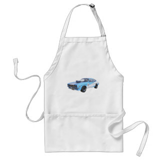 70's Muscle Car in Blue and White Standard Apron