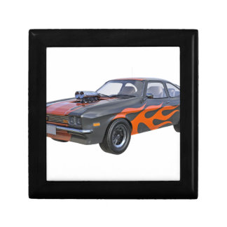 70's Muscle Car in Orange Flames and Black Gift Box