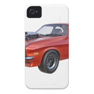 70's Muscle Car in Red iPhone 4 Case