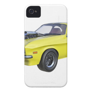 70's Muscle Car in Yellow and Black Case-Mate iPhone 4 Case