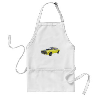 70's Muscle Car in Yellow and Black Standard Apron
