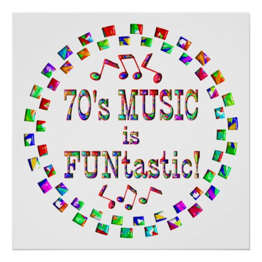 70s Music is FUNtastic Print