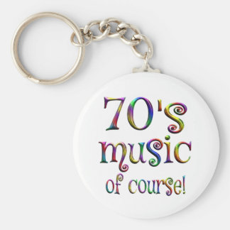 70s Music of Course Basic Round Button Keychain