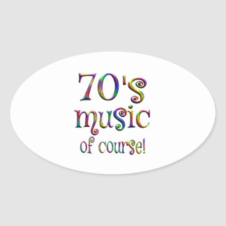 70s Music of Course Oval Sticker