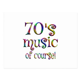 70s Music of Course Postcard