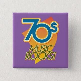 70s Music Rocks! 2 Inch Square Button