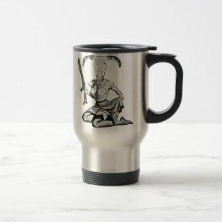 70's pin-up skull travel mug