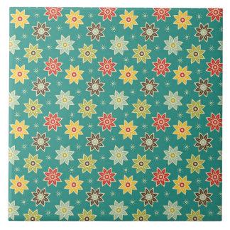 70s Retro Flower Pattern Tiles