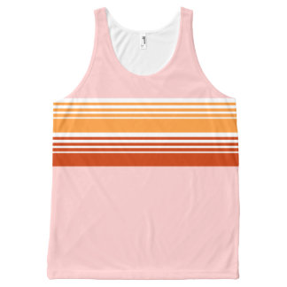 70's Retro Inspired Pink Color Chest Stripes