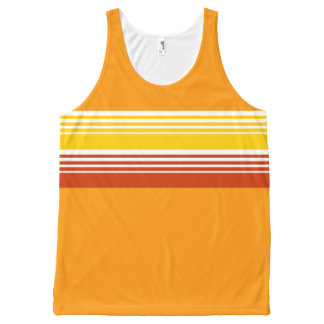 70's Retro Inspired Summer Color Chest Stripes