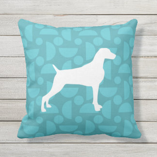 70s RETRO WEIMARANER LOVE OUTDOOR PILLOW 16 X 16
