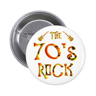 70's Rock Pinback Button