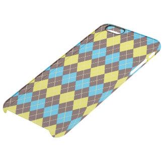 70s Scottish Tartan-Pattern... Clear iPhone 6 Plus Case