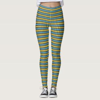 70s Scottish Tartan-Pattern... Leggings