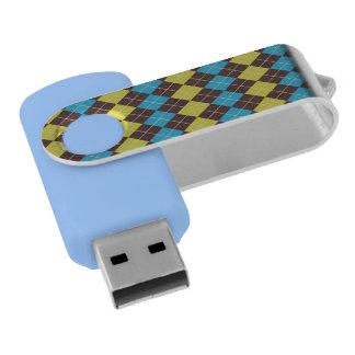 70s Scottish Tartan-Pattern... USB Flash Drive