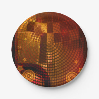 70's Seventies Orange Disco Dance Birthday Party Paper Plate