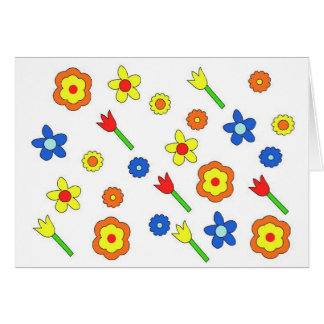 70's sping time flowers card