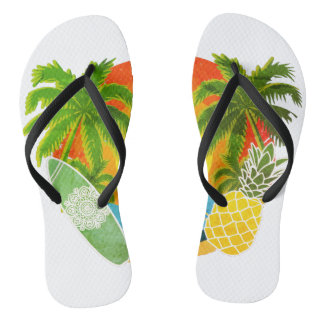 70's summer elements flip flop slippers