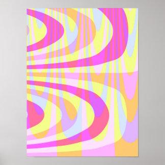 70's Swirls Poster