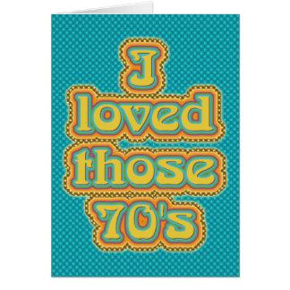 70's (TBA !) Greeting Card