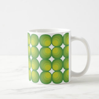 70's years green circle rows... coffee mug