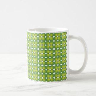 70's years green circle rows... coffee mug