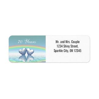 70th Anniversary Platinum Hearts