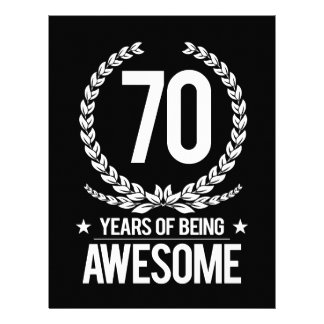 70th Birthday (70 Years Of Being Awesome) Custom Letterhead