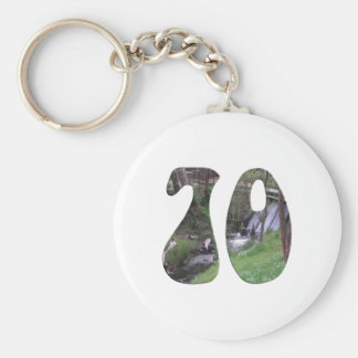 70th Birthday Basic Round Button Keychain