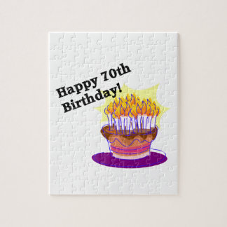 70th Birthday Cake Jigsaw Puzzle
