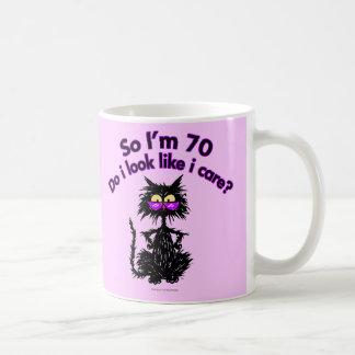 70th Birthday Cat Gifts Classic White Coffee Mug