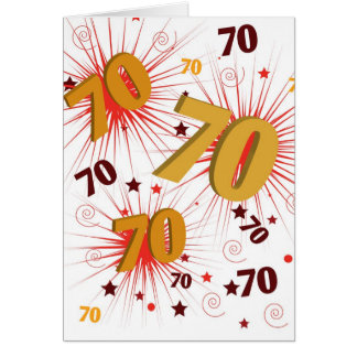 70th Birthday Celebration Card