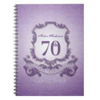 70th Birthday Celebration Custom Framed Guest Book