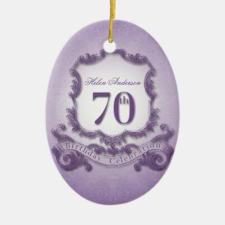 70th Birthday Celebration Personalized Ornament