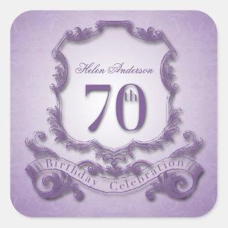 70th Birthday Celebration Personalized Stickers