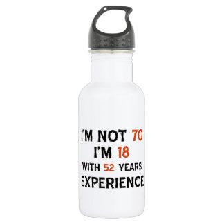 70th birthday designs 532 ml water bottle