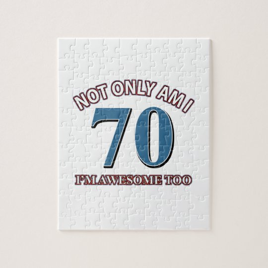 70TH birthday designs Jigsaw Puzzle