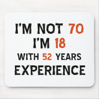 70th birthday designs mouse pad