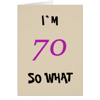 70th Birthday for Her Funny Card