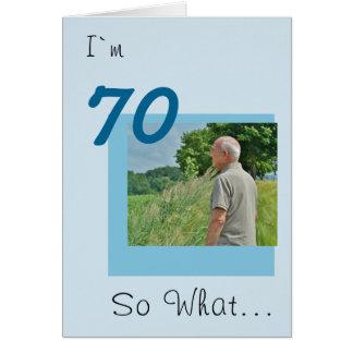70th Birthday Funny Photo Card