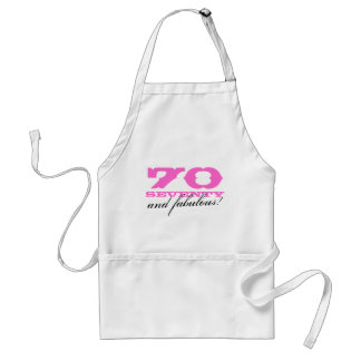 70th Birthday gift apron   70 and fabulous!