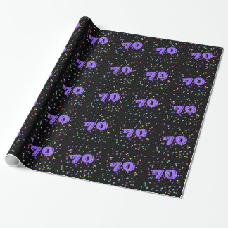 70th Birthday Gift Wrap Wrapping Paper