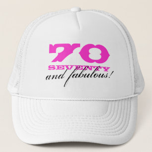 70th Birthday Hats Caps