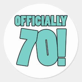 70th Birthday Humor Classic Round Sticker