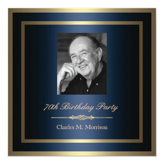 70th Birthday Invitation - Photo