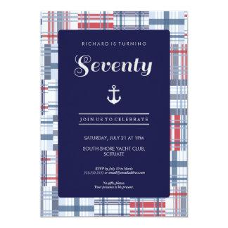 70th Birthday Invitation - Seventy Nautical Custom